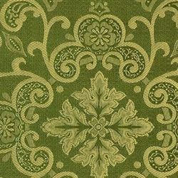 Picture of Filigree Sable Damask Capital H. cm 160 (63 inch) Acetate Viscose Fabric Red Olive Green Violet Ivory for liturgical Vestments