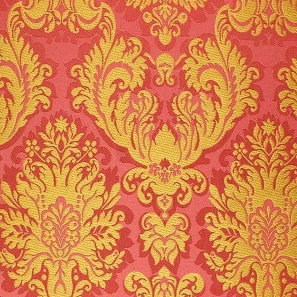 Picture of Brocade St. Satyr gold H. cm 160 (63 inch) Polyester Acetate Fabric Black White Pink White Pink Antique Gold for liturgical Vestments