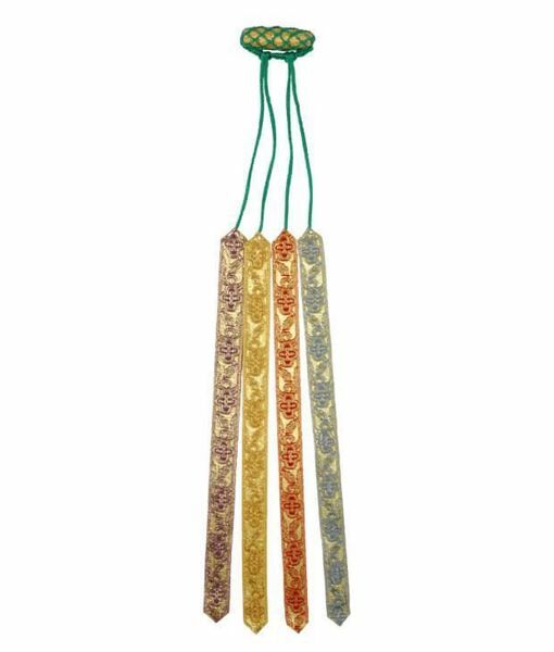 Picture of 4 Ribbons Multicolor Bible Bookmarks De Luxe L. cm 25 (9,8 inch) Viscose and Polyester multiple Page Markers for Bible Missal and Sacred Texts