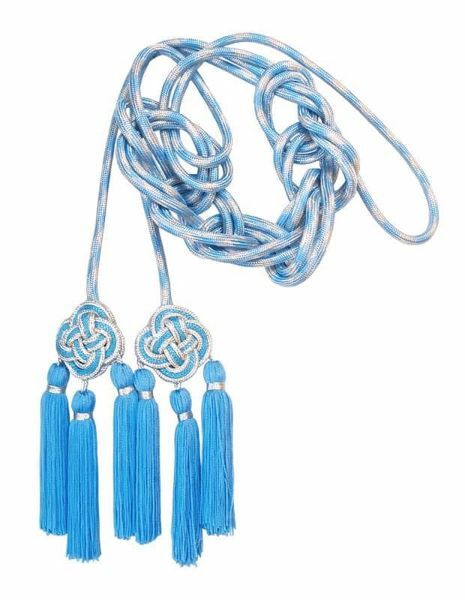 Picture of Cincture 3 small silver Tripolin Knot Tassels Cotton blend Felisi 1911 Celestial