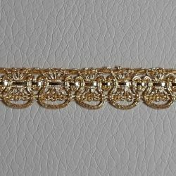Picture of Agremano Braided Trim gold metal Fleur-de-lis H. cm 0,8 (0,31 inch) Metallic thread and Viscose Border Edge Trimming for liturgical Vestments