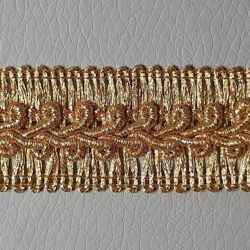 Picture of Agremano Braided Trim Golden Thread H. cm 2,50 (0,98 inch.) Viscose Polyester Border Edge Trimming for liturgical Vestments