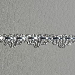 Picture of Agremano Braided Trim silver metal  H. cm 0,5 (0,19 inch.) 1-webbing Metallic thread and Viscose Border Edge Trimming for liturgical Vestments