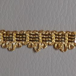 Picture of Agremano Braided Trim gold metal 3-webbings Metallic thread and Viscose Border Edge Trimming for liturgical Vestments