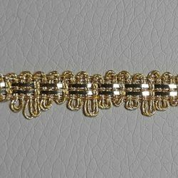Picture of Agremano Braided Trim gold metal 2-webbings H. cm 0,8 (0,31 inch) Metallic thread and Viscose Border Edge Trimming for liturgical Vestments