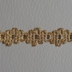 Picture of Agremano Braided Trim gold metal Double Edging H. cm 1,20 (0,47 inch.) Metallic thread and Viscose Border Edge Trimming for liturgical Vestments