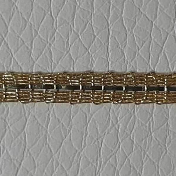 Picture of Agremano Braided Trim gold metal H. cm 0,3 (0,12 inch) Metallic thread and Viscose Border Edge Trimming for liturgical Vestments