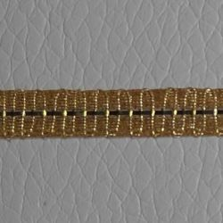 Picture of Agremano Braided Trim gold metal H. cm 0,6 (0,24 inch) Metallic thread and Viscose Border Edge Trimming for liturgical Vestments