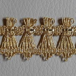 Picture of Agremano Braided Trim gold metal Handheld fan H. cm 2 (0,79 inch) Metallic thread and Viscose Border Edge Trimming for liturgical Vestments