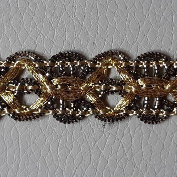 Immagine di Agremano oro antico Viscosa Poliestere Orlo Bordo Passamaneria per Paramenti sacri