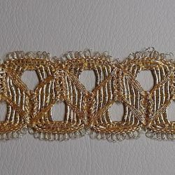 Picture of Agremano Braided Trim gold chain H. cm 3,5 (1,4 inch) Metallic thread and Viscose Border Edge Trimming for liturgical Vestments
