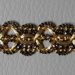 Picture of Agremano Braided Trim antique gold H. cm 1,5 (0,59 inch.)  Viscose Polyester Border Edge Trimming for liturgical Vestments