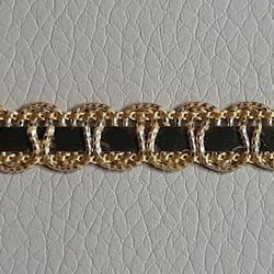 Picture of Agremano Braided Trim Gold H. cm 1 (0,39 inch.) Viscose Polyester Border Edge Trimming for liturgical Vestments