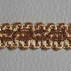 Picture of Agremano Braided Trim gold H. cm 1 (0,39 inch) Viscose Polyester Border Edge Trimming for liturgical Vestments