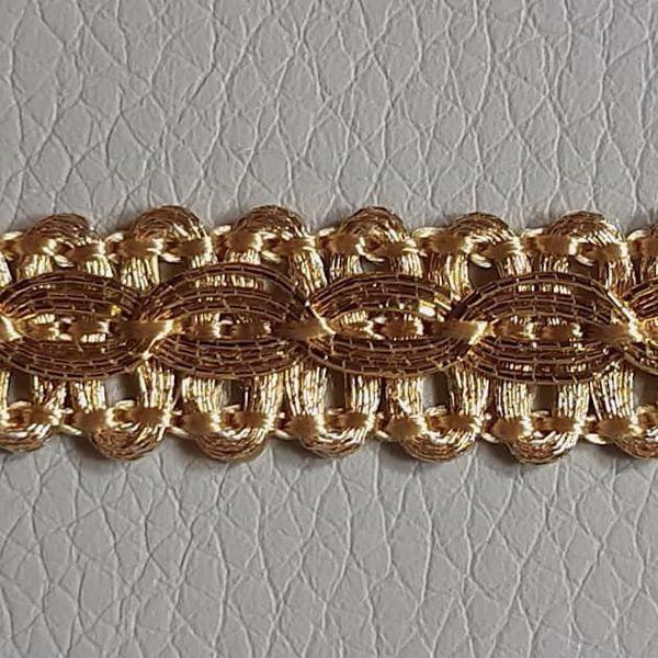 Immagine di Agremano oro rilievo H. cm 1 (0,39 inch) Viscosa Poliestere Orlo Bordo Passamaneria per Paramenti sacri