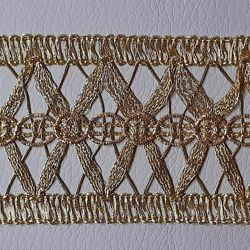 Picture of Agremano Braided Trim Gold braided net H. cm 5 (2,0 inch) Viscose Polyester Border Edge Trimming for liturgical Vestments