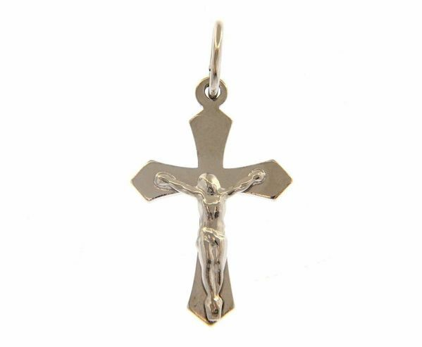 Immagine di Pendente Argento 925 Croce con Cristo gr.1,30 Unisex Donna Uomo