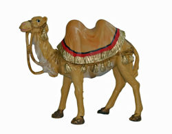 Picture of Standing Camel cm 13 (5 inch) Lux Euromarchi Nativity Scene Traditional style in wood stained plastic PVC for outdoor use
