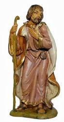 Imagen de San José cm 13 (5 inch) Lux Belén Euromarchi Estilo Tradicional en plástico PVC efecto madera para exteriores