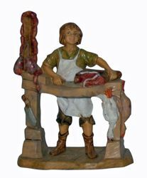 Picture of Butcher cm 13 (5 inch) Lux Euromarchi Nativity Scene Traditional style in wood stained plastic PVC for outdoor use