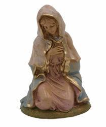 Imagen de María / Madonna cm 13 (5 inch) Lux Belén Euromarchi Estilo Tradicional en plástico PVC efecto madera para exteriores