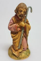Picture of Saint Joseph cm 8 (3,1 inch) Pellegrini Nativity Scene small size Statue Wood Stained plastic PVC traditional Arabic indoor outdoor use