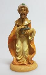 Picture of Melchior Saracen Wise King cm 8 (3,1 inch) Pellegrini Nativity Scene small size Statue Wood Stained plastic PVC traditional Arabic indoor outdoor use