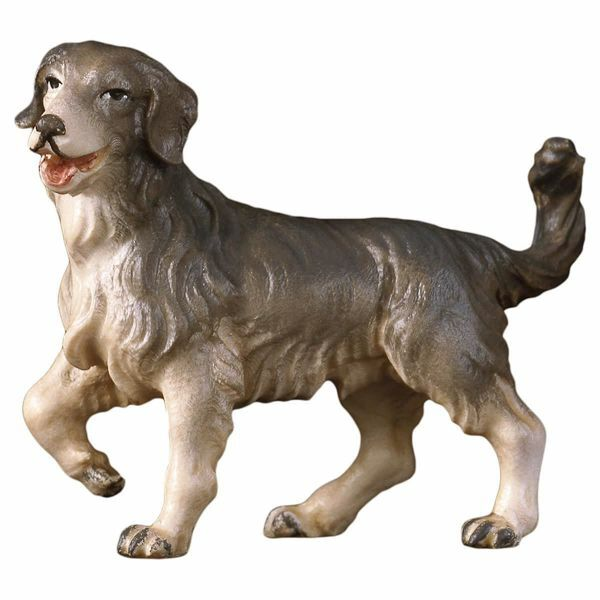 Imagen de Perro de Pastor cm 10 (3,9 inch) Belén Pastor Pintado a Mano Estatua artesanal de madera Val Gardena estilo campesino clásico