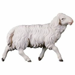 Picture of Sheep running cm 10 (3,9 inch) Hand Painted Shepherd Nativity Scene classic Val Gardena wooden Statue peasant style