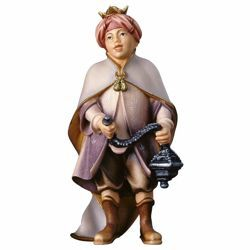 Picture of Choirboy with Incense cm 10 (3,9 inch) Hand Painted Shepherd Nativity Scene classic Val Gardena wooden Statue peasant style