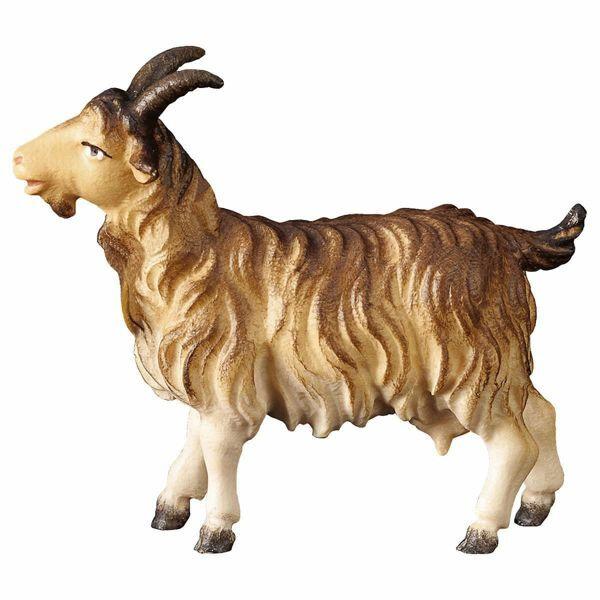 Imagen de Cabra cm 12 (4,7 inch) Belén Pastor Pintado a Mano Estatua artesanal de madera Val Gardena estilo campesino clásico