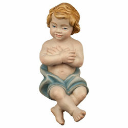 Picture of Baby Jesus cm 12 (4,7 inch) Hand Painted Shepherd Nativity Scene classic Val Gardena wooden Statue peasant style
