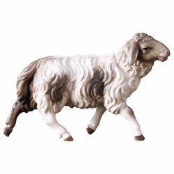 Picture of Sheep running cm 12 (4,7 inch) Hand Painted Shepherd Nativity Scene classic Val Gardena wooden Statue peasant style