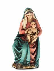 Immagine di Madonna con Bimbo in braccio cm 11 (4 inch) Presepe Landi Moranduzzo Statua in resina stile Arabo