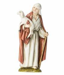 Immagine di Buon Pastore cm 11 (4 inch) Presepe Landi Moranduzzo Statua in resina stile Arabo