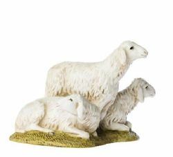Picture of 3 Sheep Set cm 11 (4 inch) Landi Moranduzzo Nativity Scene resin Statues Arabic style