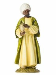Picture of Balthazar Wise King Black cm 11 (4 inch) Landi Moranduzzo Nativity Scene resin Statue Arabic style