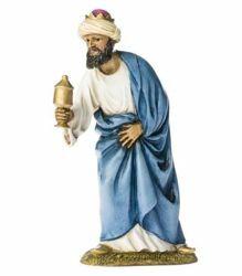 Immagine di Melchiorre Re Magio Saraceno cm 11 (4 inch) Presepe Landi Moranduzzo Statua in resina stile Arabo