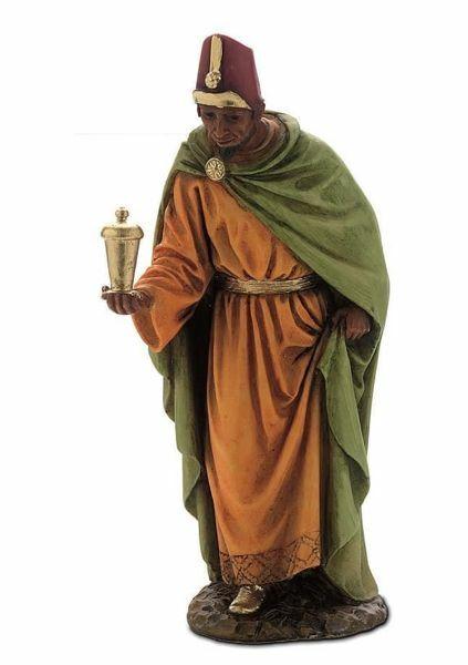 Picture of Balthazar Wise King Black cm 15 (5,9 inch) Landi Moranduzzo Nativity Scene resin Statue Arabic style