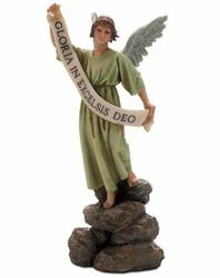 Picture of Glory Angel cm 15 (5,9 inch) Landi Moranduzzo Nativity Scene resin Statue Arabic style