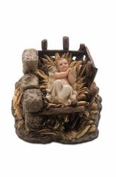 Picture of Baby Jesus and Cradle cm 15 (5,9 inch) Landi Moranduzzo Nativity Scene resin Statue Arabic style