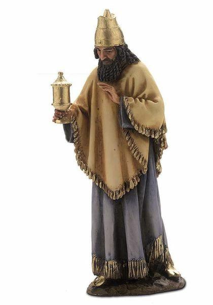 Imagen de Melchor Rey Mago Sarraceno cm 15 (5,9 inch) Belén Landi Moranduzzo Estatua de resina estilo árabe