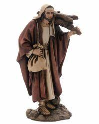 Immagine di Pastore con Legna cm 15 (5,9 inch) Presepe Landi Moranduzzo Statua in resina stile Arabo