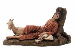Immagine di Pastore dormiente cm 15 (5,9 inch) Presepe Landi Moranduzzo Statua in resina stile Arabo