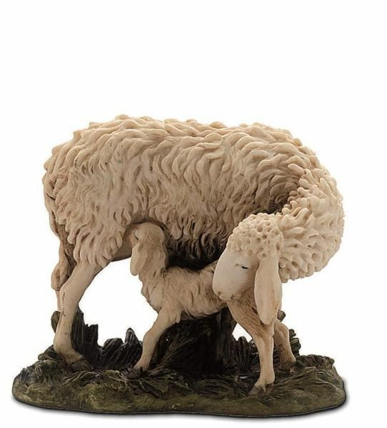 Picture of Sheep and Lamb cm 15 (5,9 inch) Landi Moranduzzo Nativity Scene resin Statue Arabic style