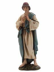 Imagen de Pastor con Flauta cm 15 (5,9 inch) Belén Landi Moranduzzo Estatua de resina estilo árabe
