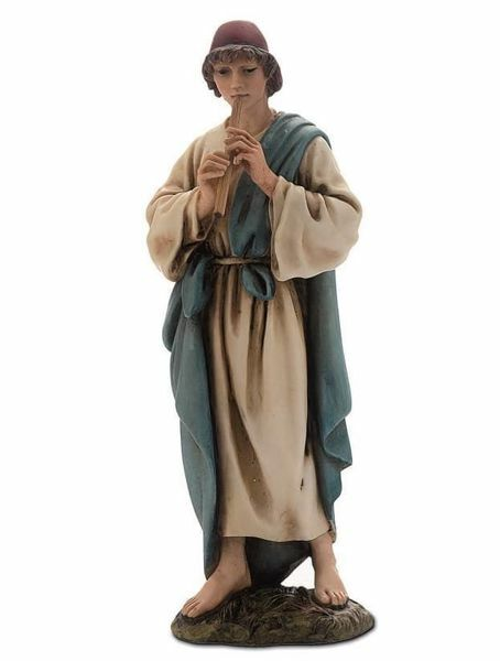 Picture of Shepherd with Flute cm 15 (5,9 inch) Landi Moranduzzo Nativity Scene resin Statue Arabic style