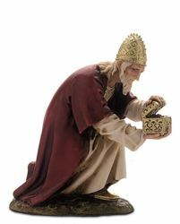 Picture of Caspar Wise King White cm 15 (5,9 inch) Landi Moranduzzo Nativity Scene resin Statue Arabic style