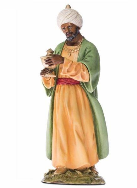 Picture of Balthazar Wise King Black cm 18 (7,1 inch) Landi Moranduzzo Nativity Scene resin Statue Arabic style