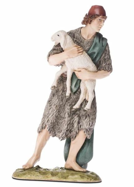 Picture of Good Shepherd cm 18 (7,1 inch) Landi Moranduzzo Nativity Scene resin Statue Arabic style